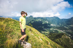 Boy contemplate the view Stock Photo