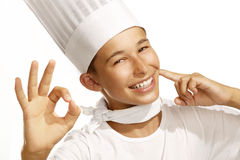 Boy cook Royalty Free Stock Image