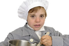 Boy with cook's hat Stock Image