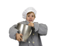 Boy with cook's hat Royalty Free Stock Photo
