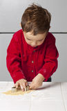 Boy with Cookie Cutter Royalty Free Stock Photo
