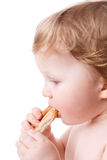 Boy with cookies Stock Image