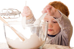 Boy cooking Royalty Free Stock Photos