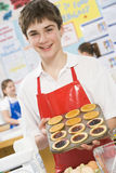 Boy in a cooking class Stock Photos