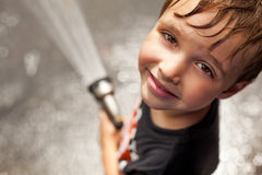 Boy Cooling Off royalty free stock images