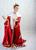 Boy in costume of the king Royalty Free Stock Photography