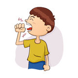 Boy Coughing Illustration. Vector Illustration of a Boy Coughing Royalty Free Stock Photos