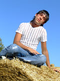 Boy in the country Stock Images