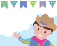 Boy with country hat Royalty Free Stock Images