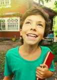 Boy country summer close up portrait Royalty Free Stock Images