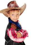 Boy cowboy. Boy in carnival costume cowboy Royalty Free Stock Images