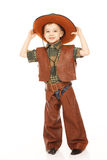 Boy in cowboy costume Royalty Free Stock Image