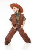 Boy in cowboy costume Stock Photo