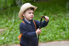 Boy in the cowboy hat Stock Photography
