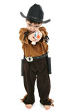 Boy in Cowboy Sheriff Costume Royalty Free Stock Photo
