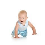 Boy crawling on floor Royalty Free Stock Photo