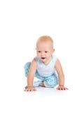 Boy crawling on floor Royalty Free Stock Photo