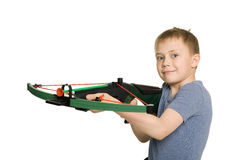 Boy with the crossbow Stock Photos