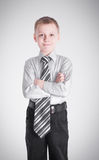 Boy crossed his arms Royalty Free Stock Photos