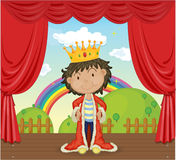 A Boy with a Crown Royalty Free Stock Photos