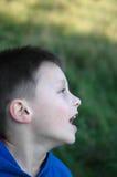Boy. Cry. Stock Photo