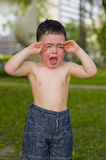 Boy crying Royalty Free Stock Image