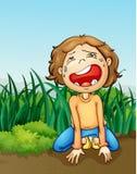 Boy crying alone Stock Photography