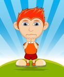 The boy crying cartoon vector illustration Stock Photography
