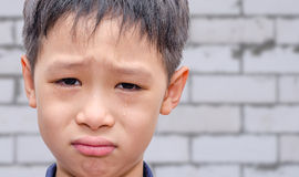 Boy crying Stock Image