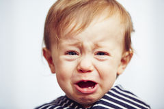 Boy is crying Royalty Free Stock Photo