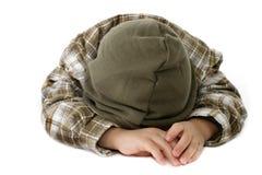Boy Crying or Sleeping Stock Image