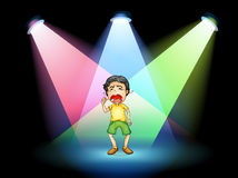 A boy crying at the stage Stock Photos