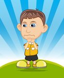 The boy crying vector illustration Stock Image