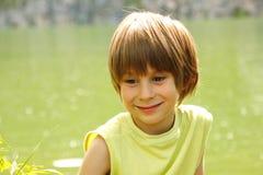 Boy cute happy summer outdoor Stock Image