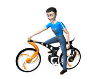 Boy with cycle Stock Photos
