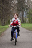 Boy cycling Royalty Free Stock Images