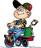 Boy cycling Royalty Free Stock Image