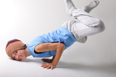 Boy and dance. Dance of a young man who enjoys the game stock photos