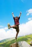Boy dances Stock Images