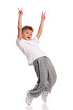 Boy dancing Stock Photography