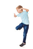 Boy dancing Stock Images