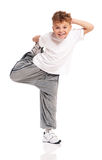 Boy dancing Royalty Free Stock Images