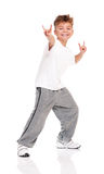 Boy dancing Stock Photos