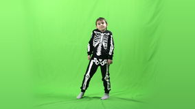 Boy dancing on a green screen, 4k ProRes, 4.2.2, 10bit stock video footage