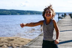Boy dancing Royalty Free Stock Photos
