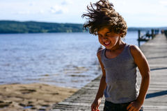 Boy dancing Royalty Free Stock Image