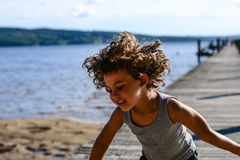 Boy dancing Royalty Free Stock Photo