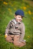 Boy With Dandelion Royalty Free Stock Photo