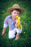The Boy with dandelion Royalty Free Stock Image