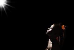 Boy in the dark Stock Photography
